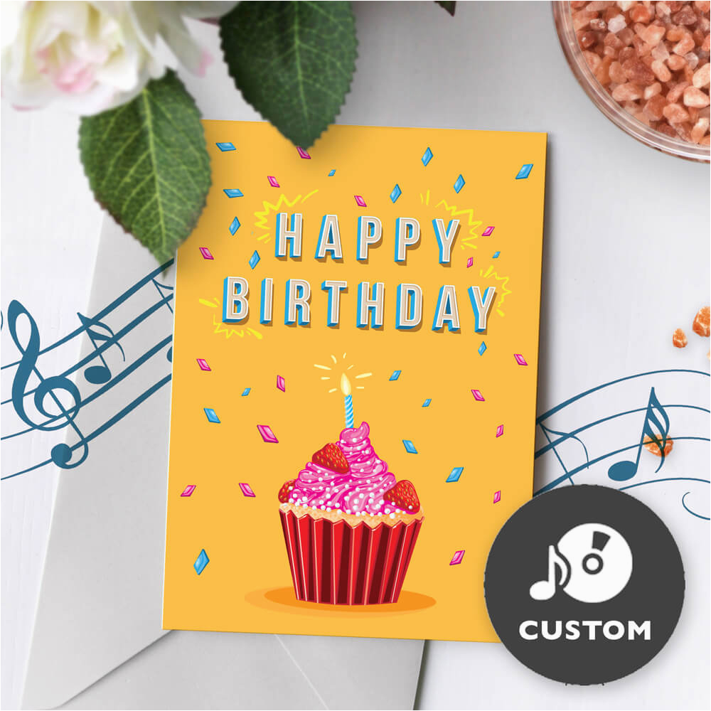 Bithday Greeting Card Front 5x7 Custom Sounds