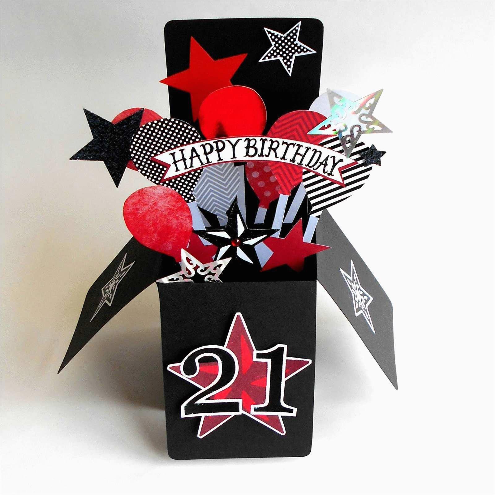 Custom Singing Birthday Cards Music Lovely Card Luxury Pop Box Age Tattoo