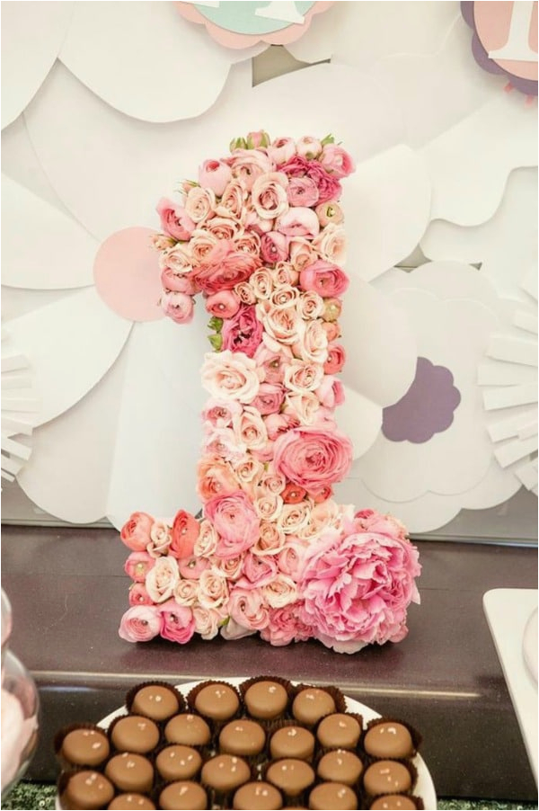1 Year Baby Birthday Decoration 21 Pink And Gold First Party Ideas Pretty My