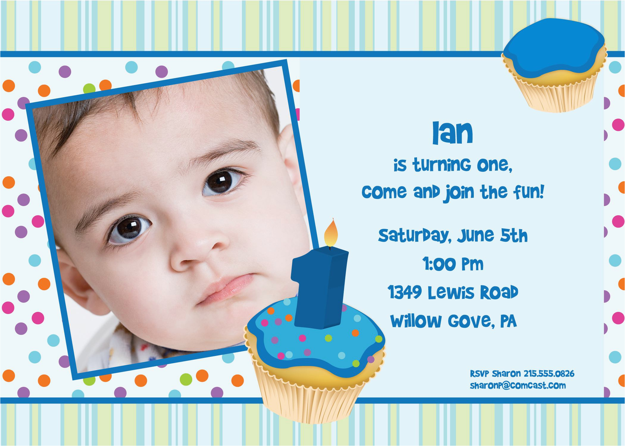 1 Year Old Birthday Invitation Card Sample Invitations Cards For
