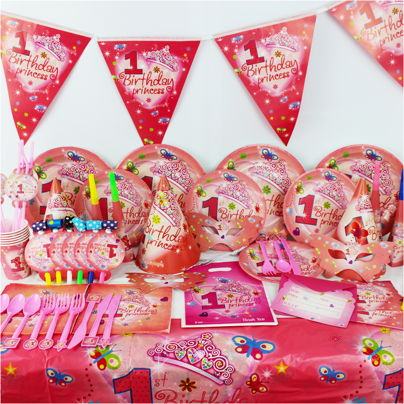 1 Year Old Birthday Party Decorations 2015 New 78pcs Pretty Girl Kids Boys