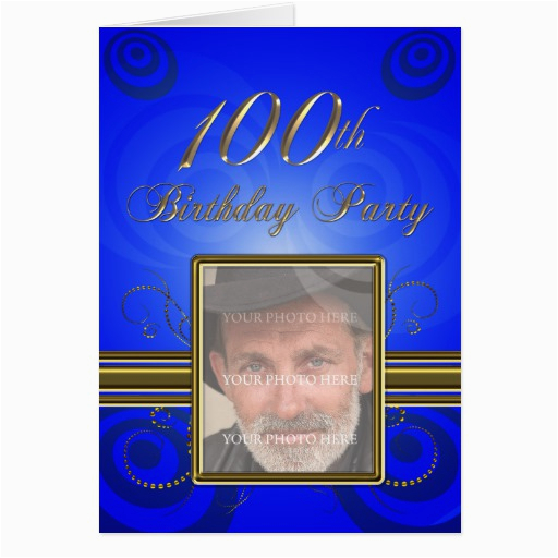 100th birthday party invitation zazzle