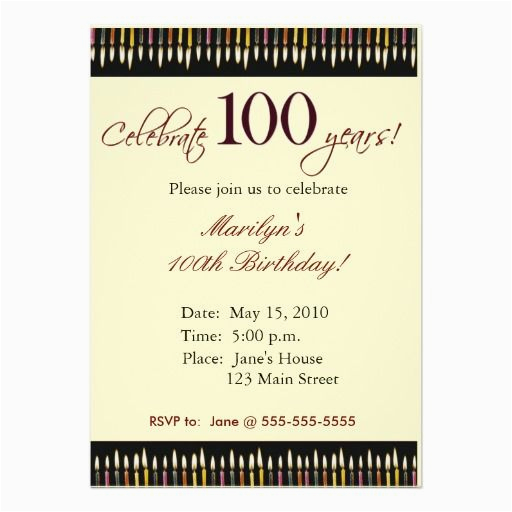 100 Birthday Invitation Wording Year Old Party Invitations