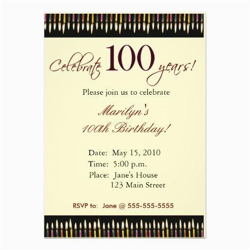 100 year old birthday party invitation party invitations