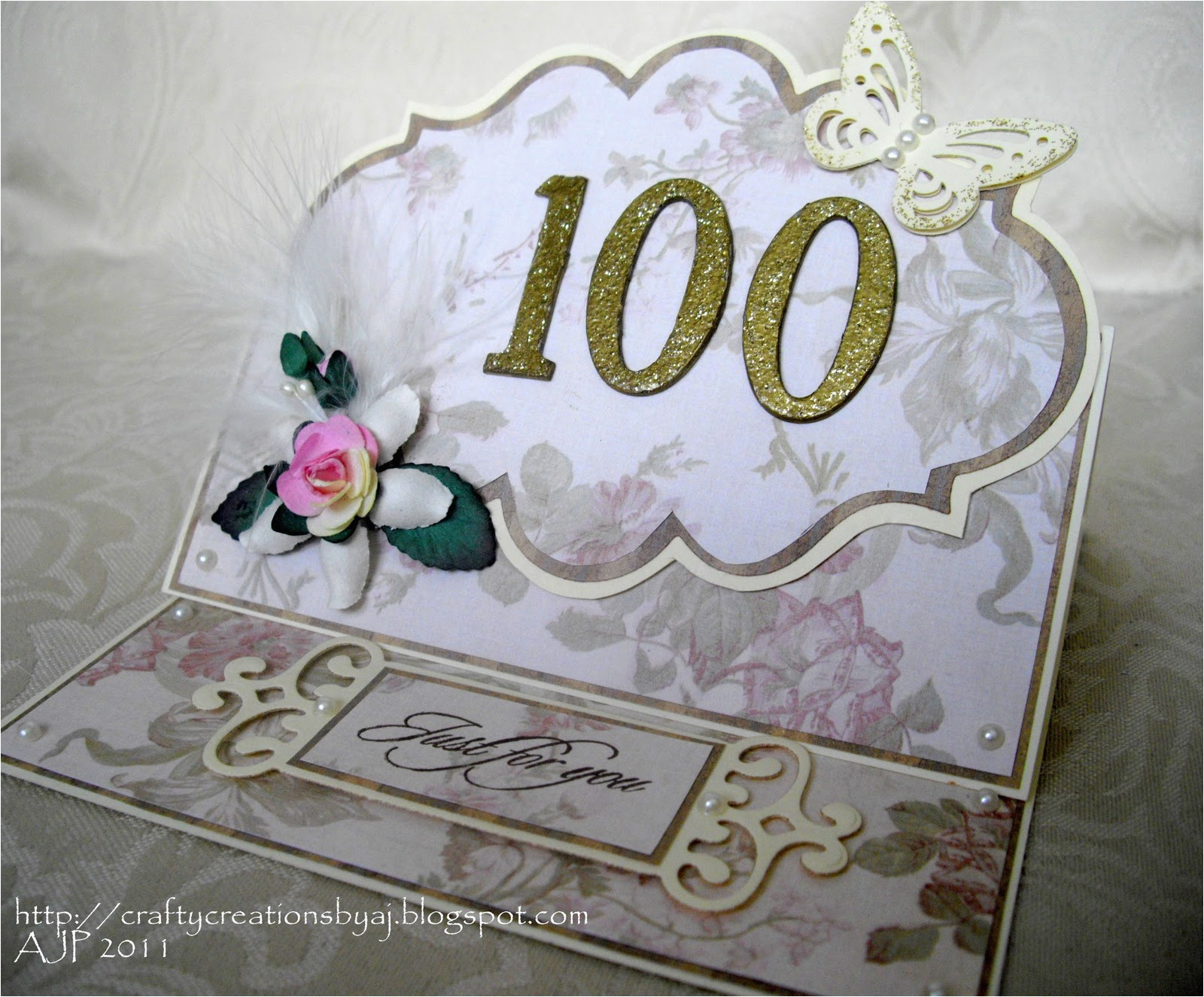 100 Year Old Birthday Card Crafty Creations by A J 100 Years Old Wow