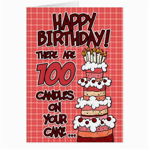 happy birthday 100 years old greeting card zazzle