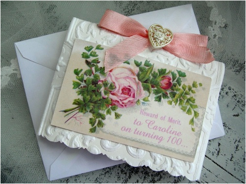 100th birthday card for caroline on it 39 s way to karla