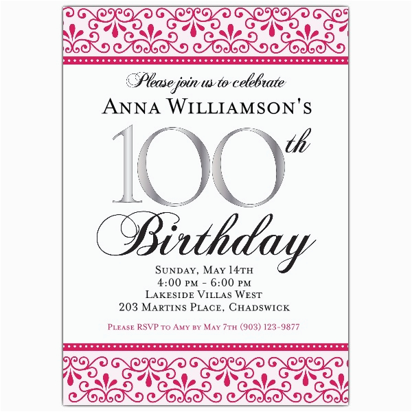 100th Birthday Invitation Wording 100th Birthday Invitation Wording First Birthday Invitations