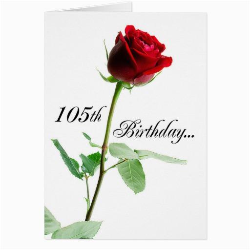 105th birthday red rose card 137454488466988743
