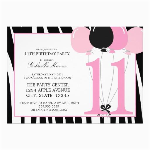 11th Birthday Party Invitations Wording