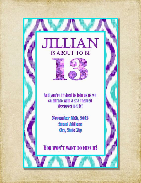 12 Year Old Birthday Party Invitations Invitation For Girls
