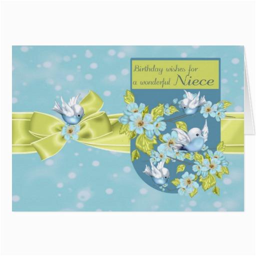 niece birthday greeting card with pretty birds 137018266200677286