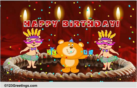 123 Free Birthday Greeting Cards With Music A Song Wish Songs Ecards