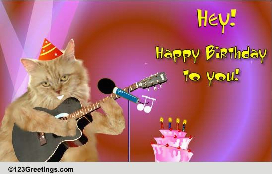 123 Free Birthday Greeting Cards With Music Singing Cat Songs Ecards