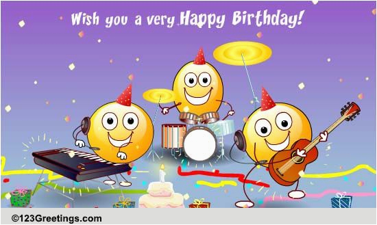 123 Free Birthday Greeting Cards With Music The Happy Song Songs Ecards