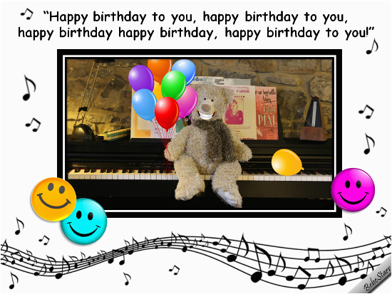singing birthday bear