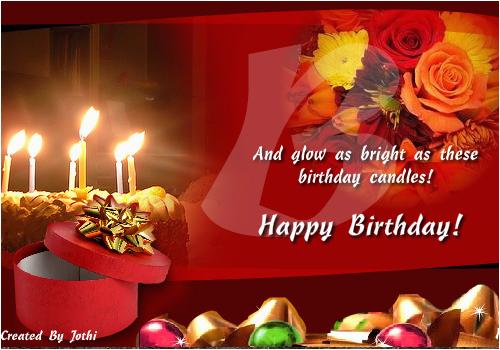 glowing birthday wish free happy birthday ecards