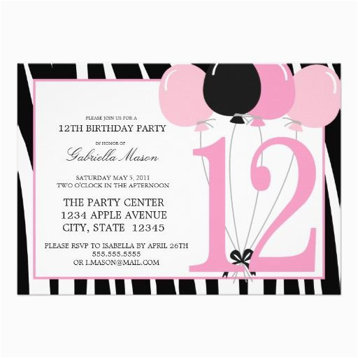 12th Birthday Invitation Wording 17 Best Images About Party Invitations On