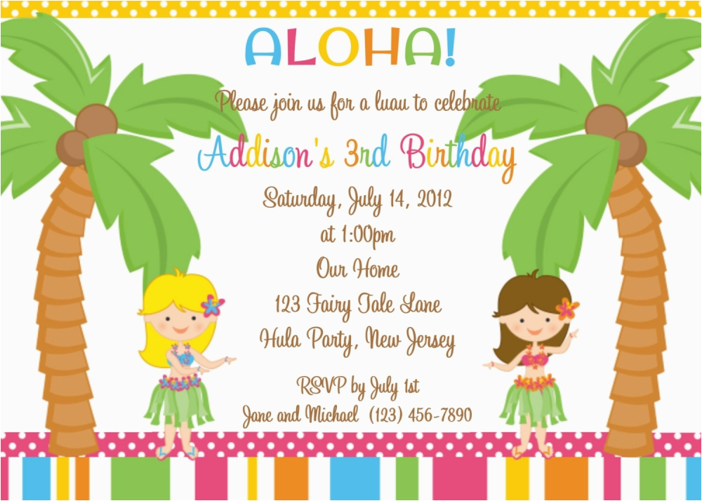 luau party invitations wording