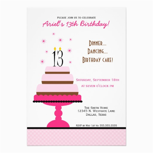 13 Year Old Birthday Party Invitations Free Printable Invitation Template