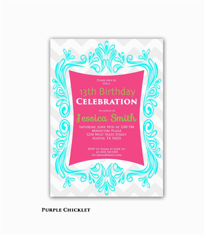 13th Birthday Boy Invitations 13th Birthday Invitations Printable Best Happy Birthday