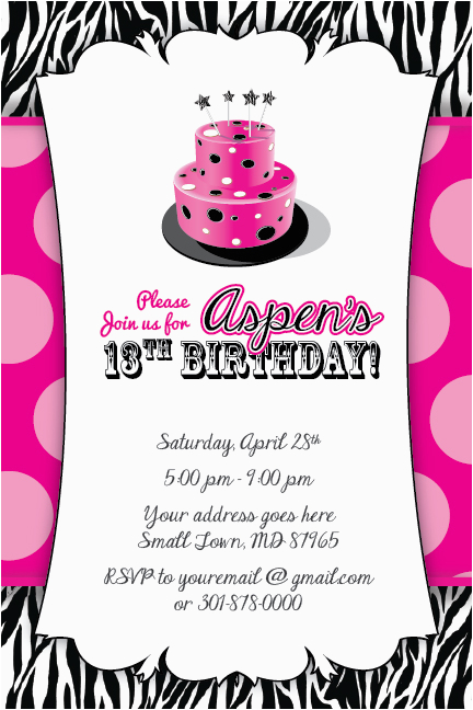 13th Birthday Card Template 7 Best Images Of Free Printable Invitations