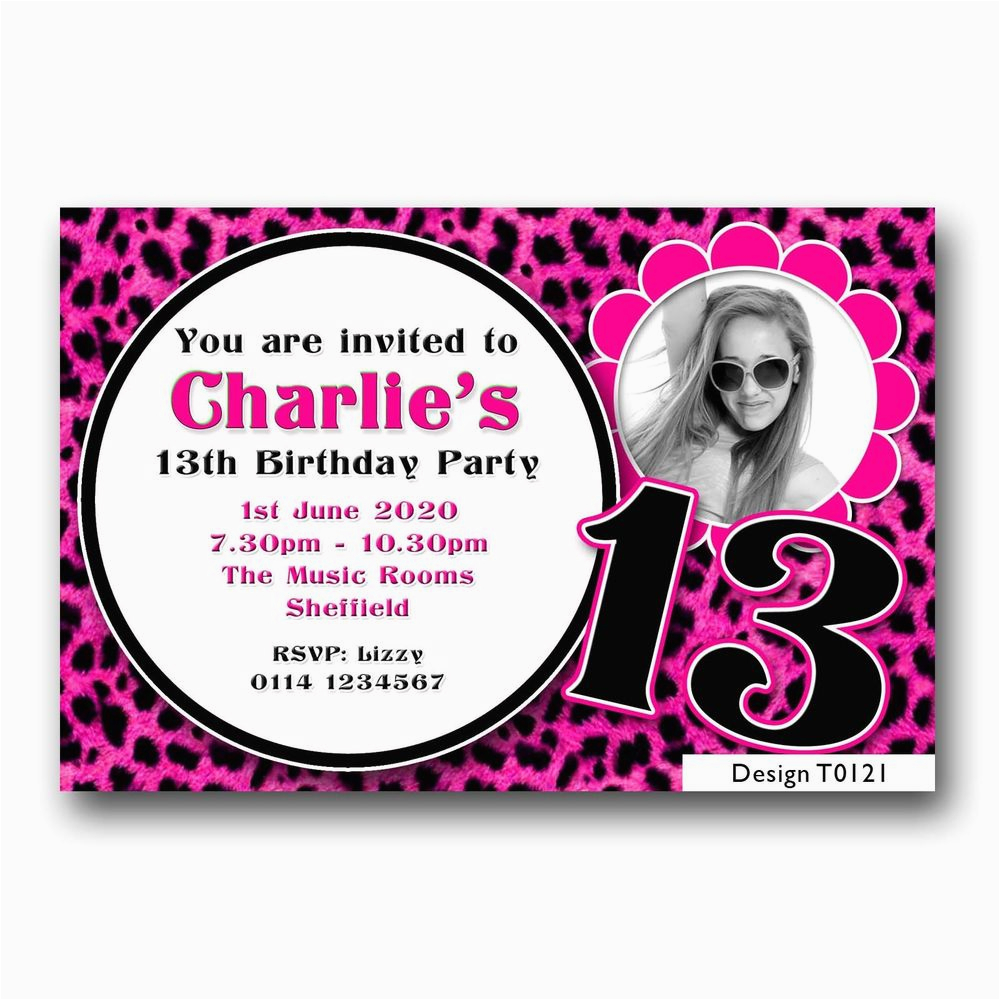 personalised boys girls teenager 13th birthday party
