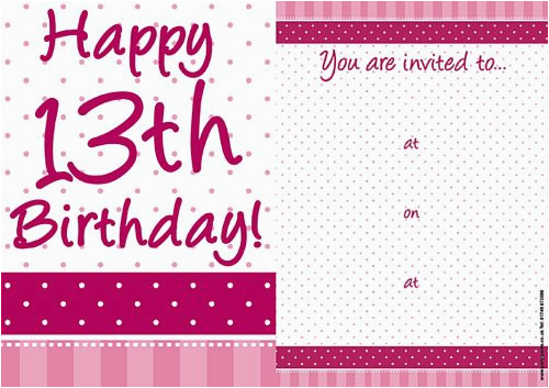 pretty pink 39 13th birthday 39 invites pack of 8