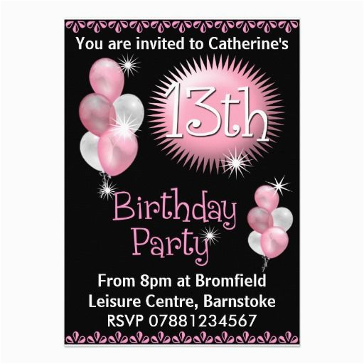13th Birthday Invitation Wording 29 Best Images About Party Invitations On