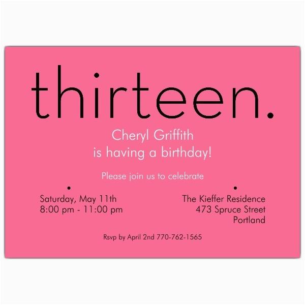 13th Birthday Invitation Wording Ideas 13th Birthday Party Invitations A Birthday Cake