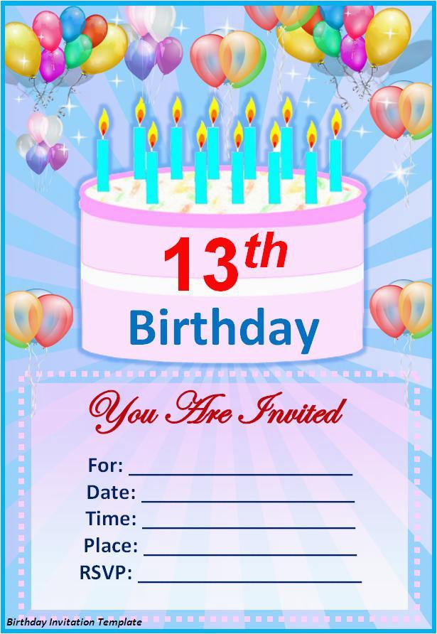 14th Birthday Party Invitations Birthday Invitation Templates Http
