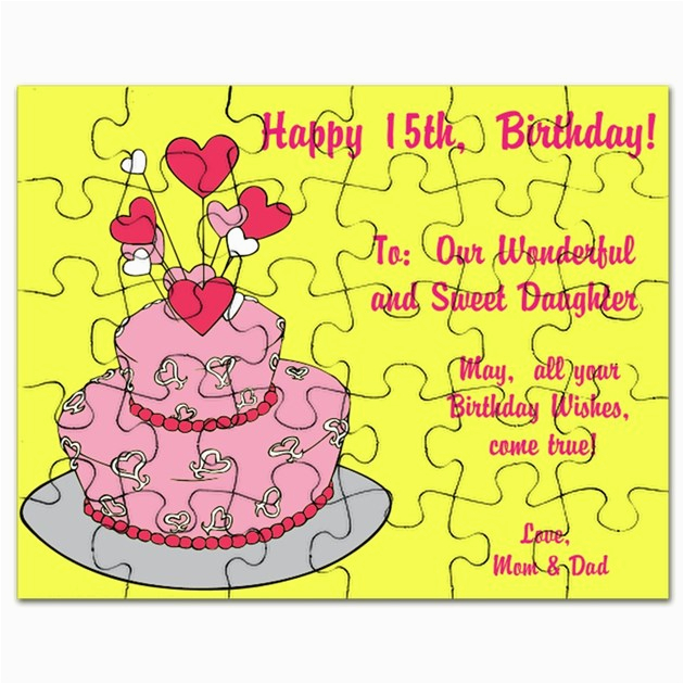 happy 15th birthday wishes card puzzle 1381176273