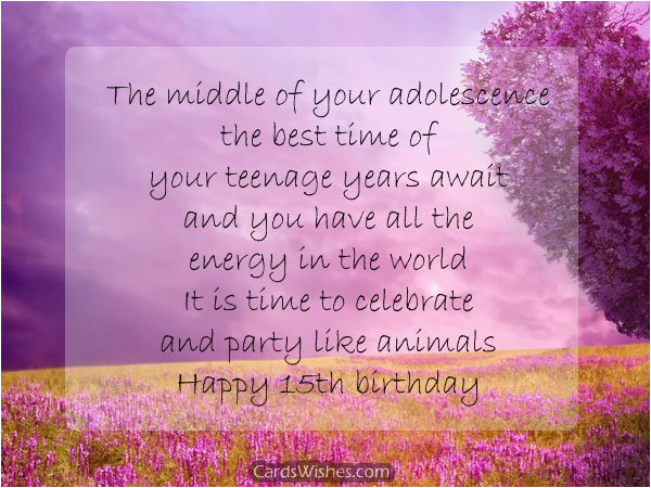 15th birthday wishes