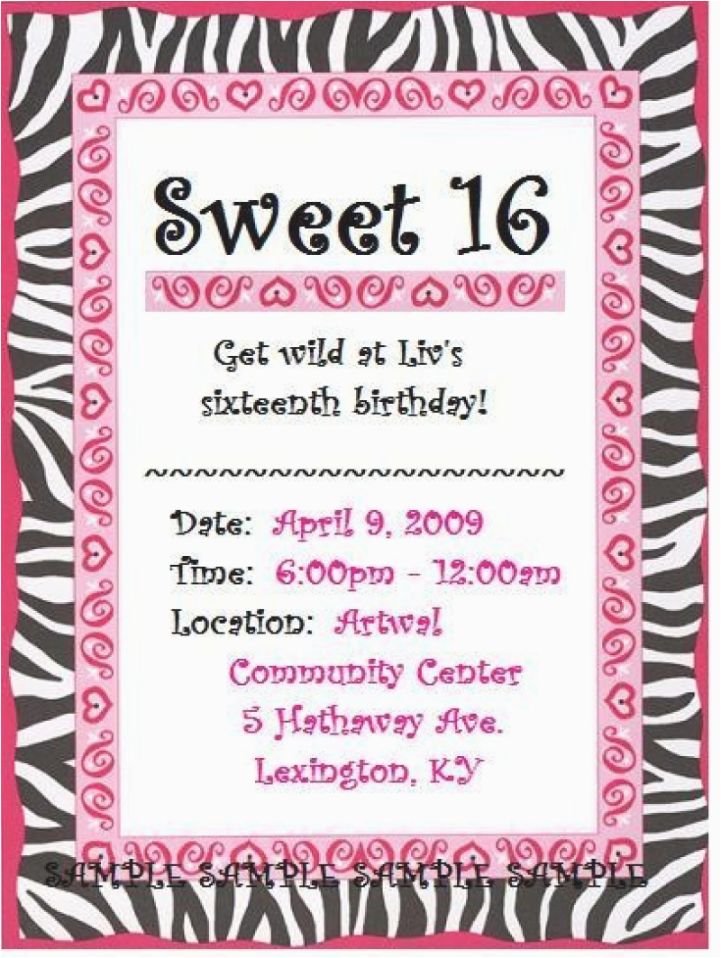 Sweet 16 Birthday Invitation Printable