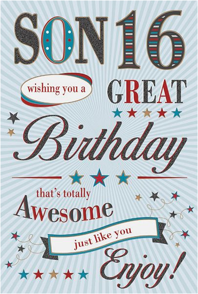 son 16th birthday card 32287 p