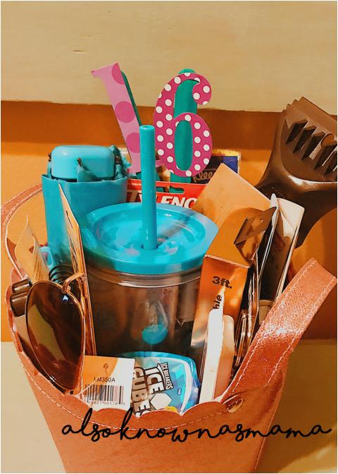 16th birthday gift basket sweet sixteen
