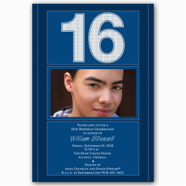 16th Birthday Party Invitations For Boys Free Printable 16 Year Old Invitation Template