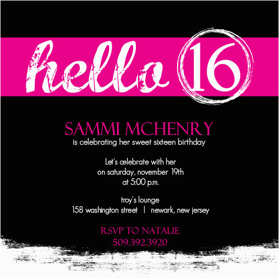 16th Birthday Party Invitations Templates Free For Sweet
