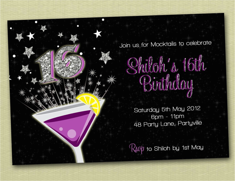 boys 16th birthday invitations