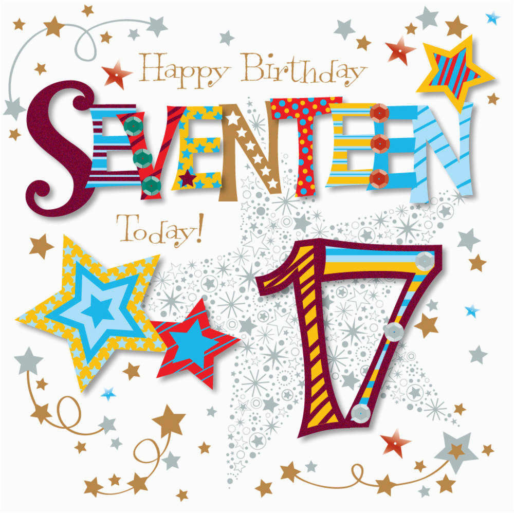 kctpmwer0055 seventeen today 17th birthday greeting card by talking pictures greetings cards