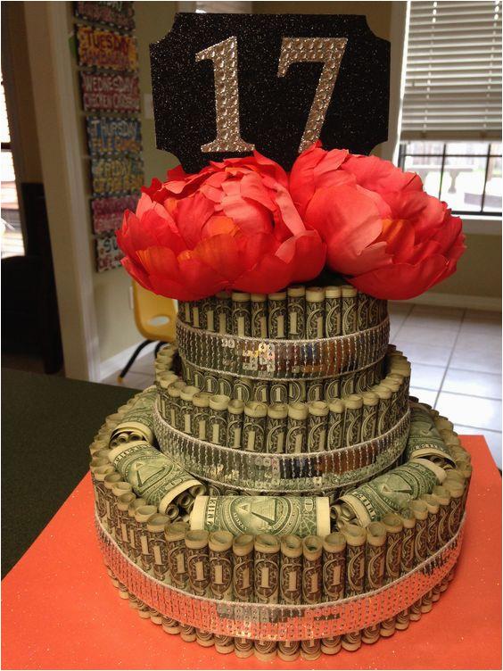 17th birthday money cake party ideas pinterest