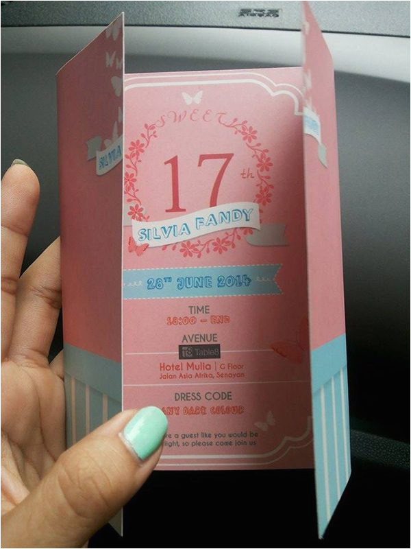 17th Birthday Invitation Ideas 17th Birthday Party Invitation Card A Birthday Cake