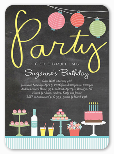 17th Birthday Party Invitations Creative 17th Birthday Party Ideas and themes Shutterfly