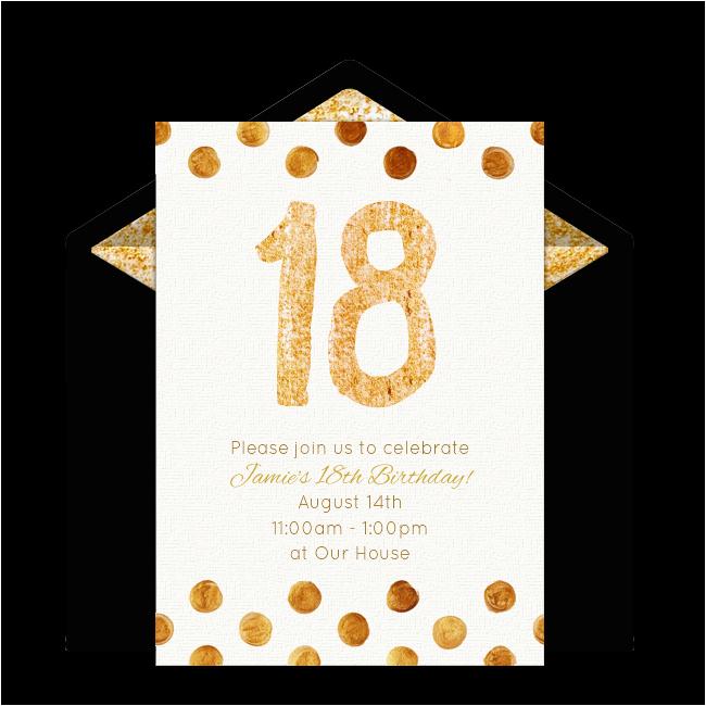 18 Year Old Birthday Party Invitations Lijicinu