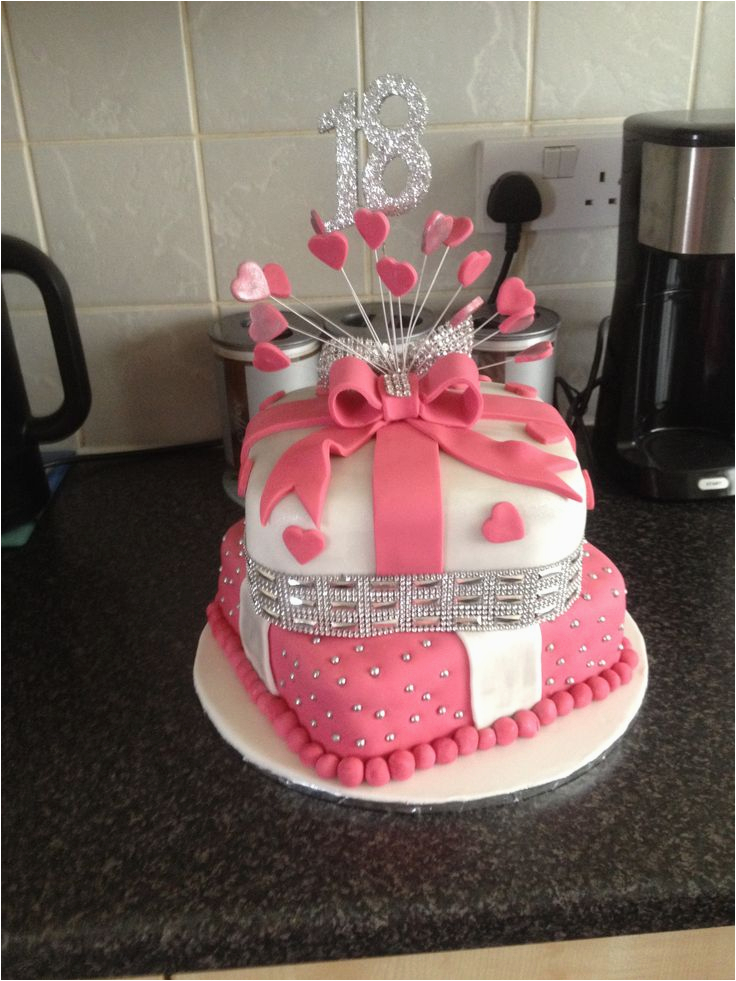 18th Birthday Cake Decorations Uk 18 Th 2 Tier I Made Pinteres