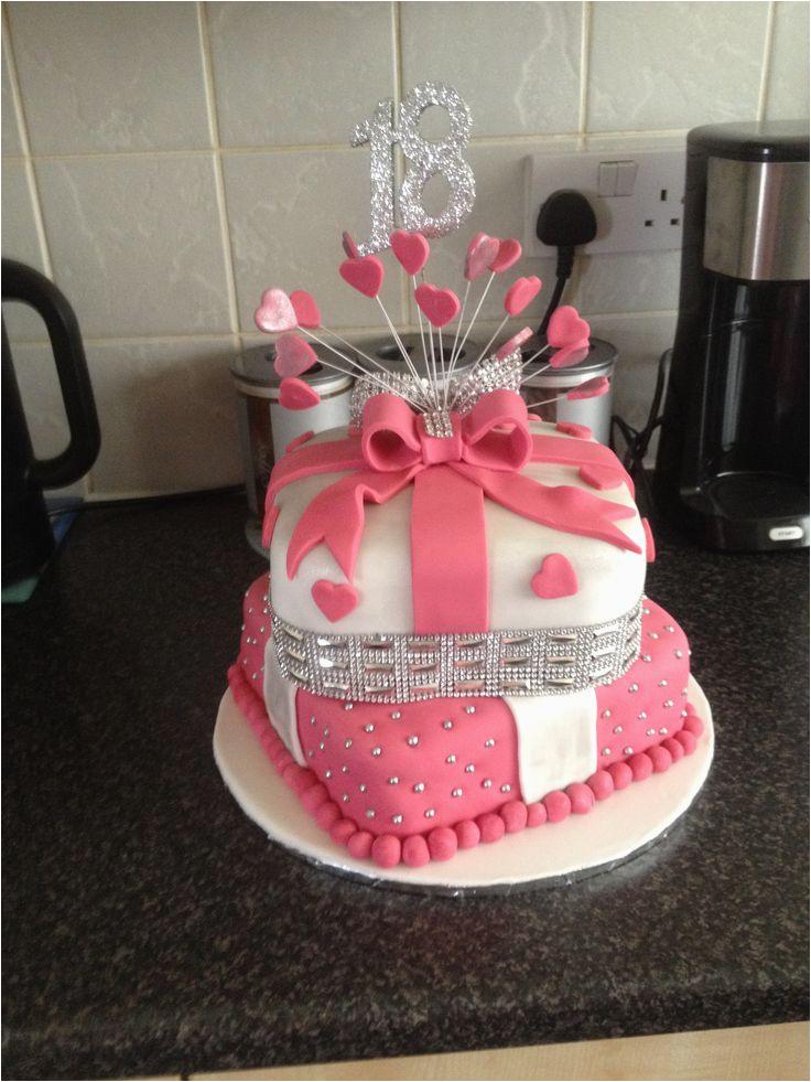 18th Birthday Cake Decorations Uk 18 Th 2 Tier I Made Pinteres