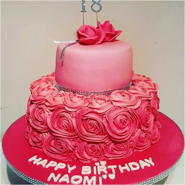 18th Birthday Cake Decorations Uk With Buttercream Roses Gallery 2