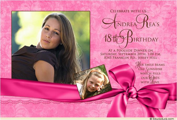 18th Birthday Invitation Ideas