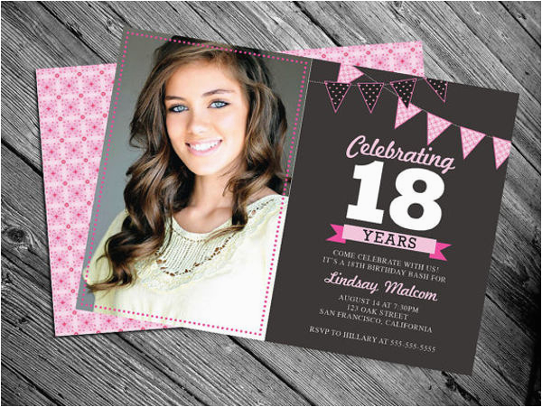 18th Birthday Invitation Card Designs 30 Free Premium Templates