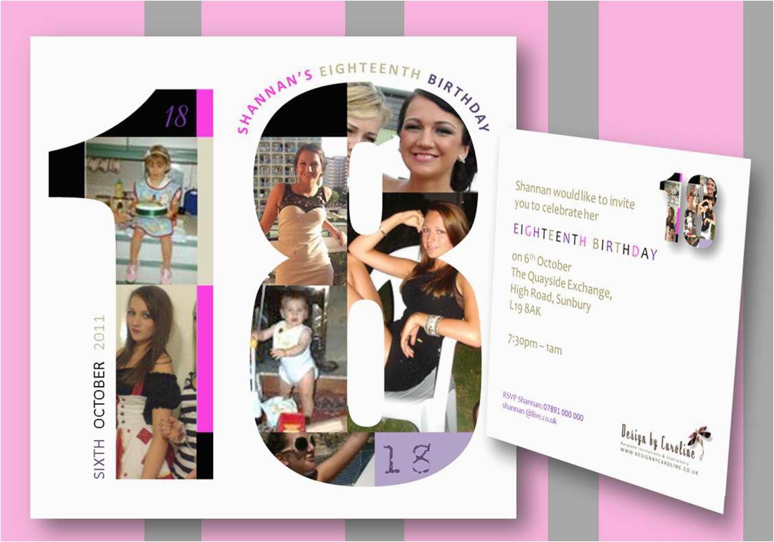 18th Birthday Invitation Card Sample 18 Templates